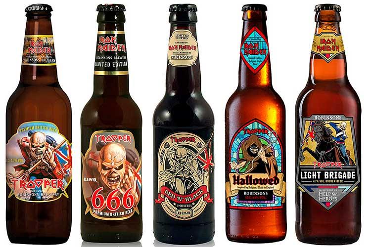 cervezas de iron maiden